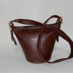 COACH leather cross-body VINTAGE bag